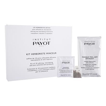 PAYOT Herboriste Minceur Kit sada tělová maska Targeted Anti-Cellulite Draining Mask 20 x 100 g + tělový peeling New-Skin Effect Slimming Scrub 10 x 30 g + detoxikační čajová kúra 10 ks pro ženy