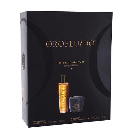 Orofluido Hair & Body Beauty Set sada tekuté zlato Beauty Elixir 100 ml + tělový krém Body Cream 200
