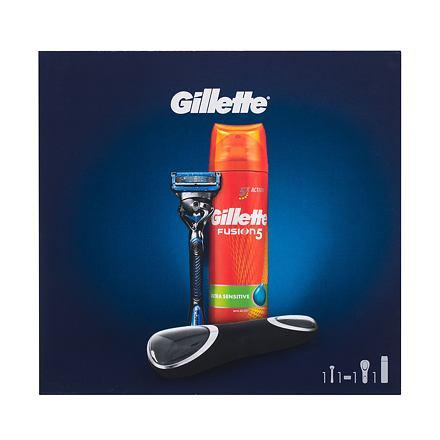Gillette Fusion 5 Proshield Chill Flexball sada holicí strojek s jednou hlavicí Fusion 5 Proshield Chill Flexball1 ks + pěna na holení Fusion 5 Ultra Sensitive 200 ml + cestovní pouzdro pro muže