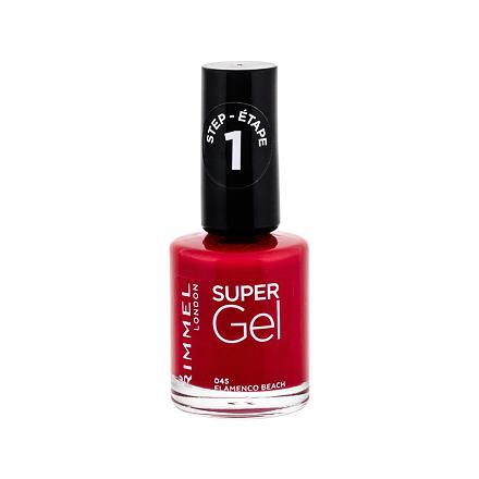 Rimmel London Super Gel STEP1 gelový lak na nehty odstín 045 Flamenco Beach pro ženy