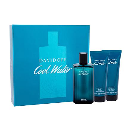 Davidoff Cool Water sada toaletní voda 125 ml + balzám po holení 75 ml + sprchový gel 75 ml pro muže