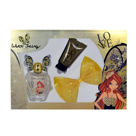 Winx Fairy Couture Bloom sada toaletní voda 100 ml + tělové mléko 75 ml +  spona 26e323652c