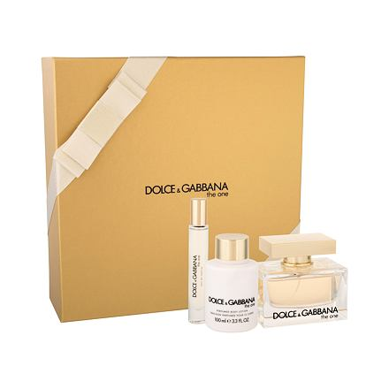 Dolce&Gabbana The One sada parfémovaná voda 75 ml + tělové mléko 100 ml + toaletní voda 7,4 ml pro ženy