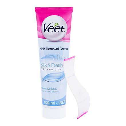Veet Silk   Fresh Sensitive Skin depilační krém pro citlivou pokožku 100 ml  pro ženy 5a0d258c06