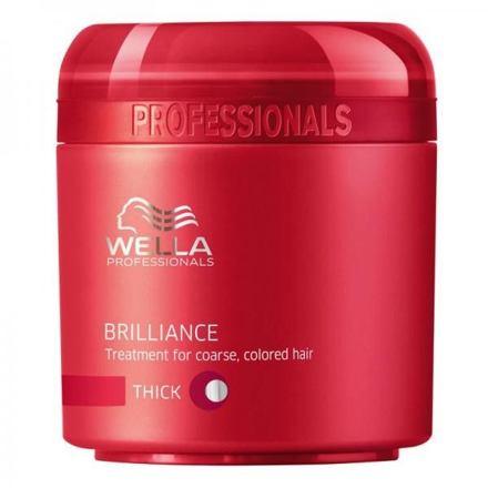 Wella Brilliance Thick Hair maska pro silné barvené vlasy 150 ml pro ženy