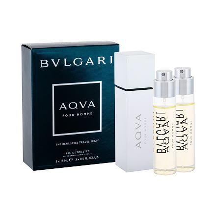 Bvlgari Aqva Pour Homme toaletní voda 3x15 ml pro muže