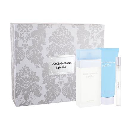 Dolce&Gabbana Light Blue sada toaletní voda 100 ml + tělový krém 100 ml + toaletní voda 10 ml pro ženy
