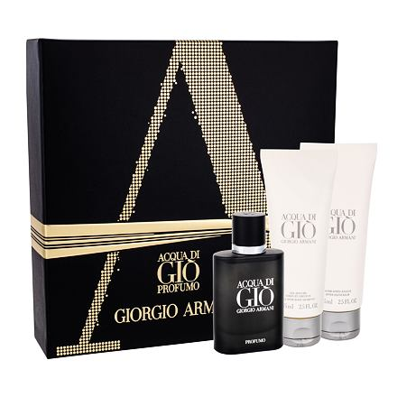 Giorgio Armani Acqua di Gio Profumo sada parfémovaná voda 40 ml + sprchový gel Acqua di Gio 75 ml + balzám po holení Acqua di Gio 75 ml pro muže