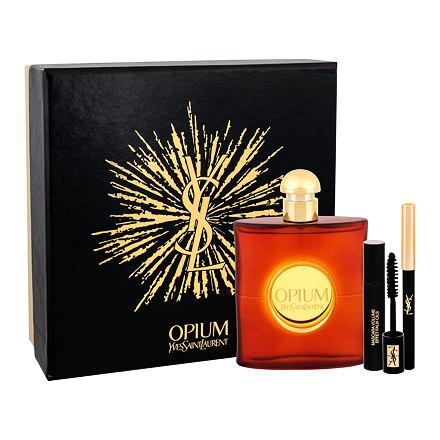 Yves Saint Laurent Opium 2009 sada toaletní voda 90 ml + řasenka Volume Effet Faux Cils N 1 2 ml + tužka na oči Eye Pencil Waterproof 1 0,8 g pro ženy