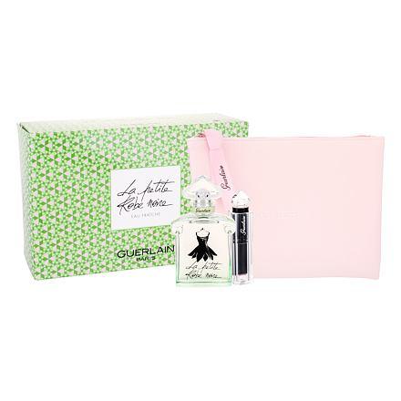 Guerlain La Petite Robe Noire Eau Fraiche sada toaletní voda 50 ml + rtěnka La Petite Robe Noire 011 Beige Lingere 2,8 g + kosmetická taška pro ženy