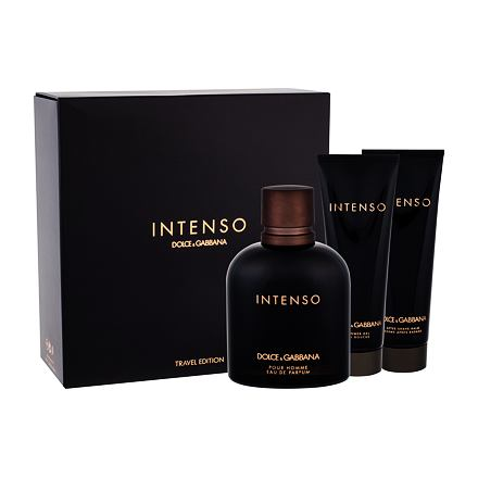 Dolce&Gabbana Pour Homme Intenso sada parfémovaná voda 125 ml + balzám po holení 50 ml + sprchový gel 50 ml pro muže