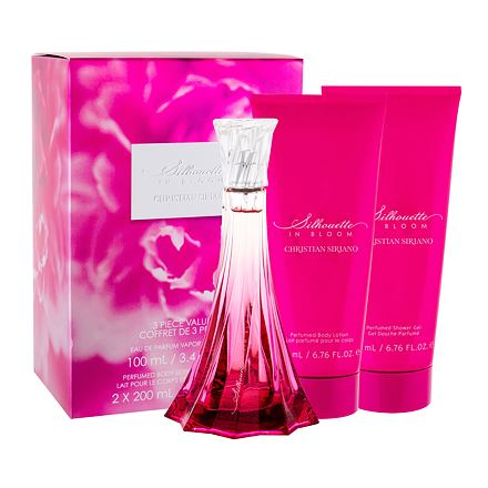 Christian Siriano Silhouette in Bloom sada parfémovaná voda 100 ml + tělové mléko 200 ml + sprchový gel 200 ml pro ženy