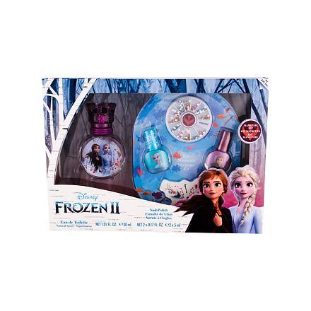 Disney Frozen II sada toaletní voda 30 ml + lak na nehty 2 x 5 ml + pilník na nehty + zdobící kamínk