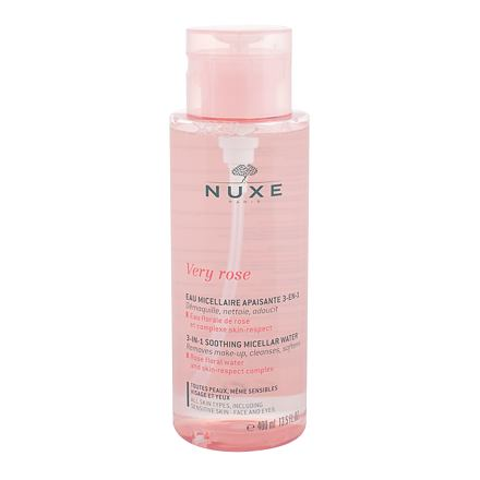 NUXE Very Rose 3-In-1 Soothing hydratační čisticí a odličovací micelární voda pro ženy