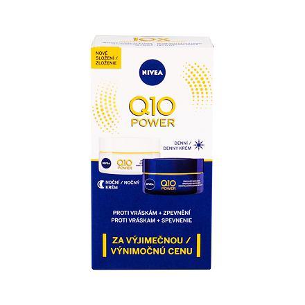 Nivea Q10 Power sada denní pleťový krém SPF15 50 ml + noční pleťový krém 50 ml pro ženy