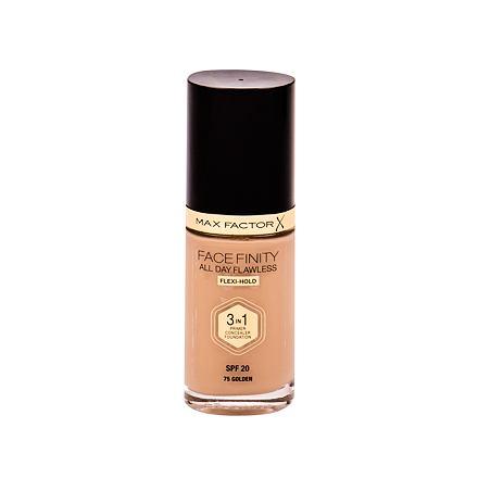 Max Factor Facefinity 3 in 1 tekutý make-up s uv ochranou SPF20 30 ml odstín 75 Golden