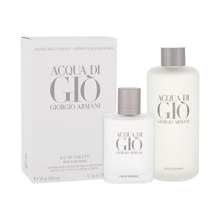 Giorgio Armani Acqua di Giò Pour Homme sada toaletní voda 50 ml + toaletní voda náplň 200 ml pro muže