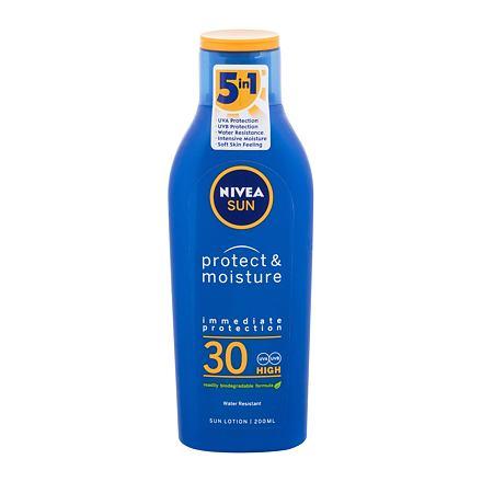 Nivea Sun Protect & Moisture SPF30 200 ml hydratační mléko na opalování