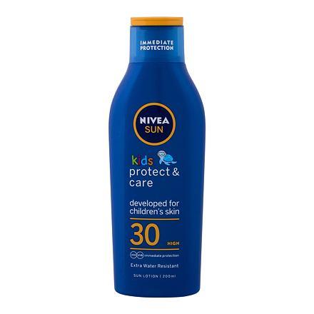 Nivea Sun Kids Protect & Care Sun Lotion SPF30 200 ml voděodolné mléko na opalování