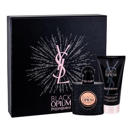 Yves Saint Laurent Black Opium sada parfémovaná voda 30 ml + tělová hydratační péče 50 ml pro ženy