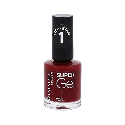 Rimmel London Super Gel STEP1 gelový lak na nehty 12 ml odstín 043 Venus pro ženy