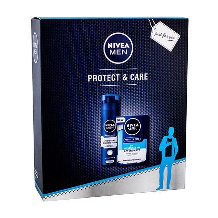 Nivea Men Protect & Care sada pečující voda po holení 2v1 100 ml + pěna na holení 200 ml pro muže