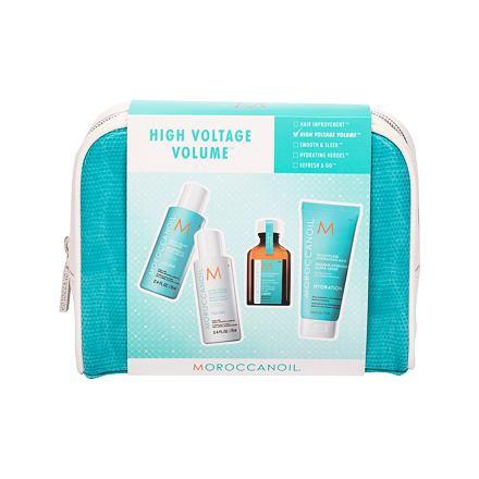Moroccanoil Volume sada šampon 70 ml + kondicionér 70 ml + olej na vlasy 25 ml + maska na vlasy 75 ml + kosmetická taška pro ženy