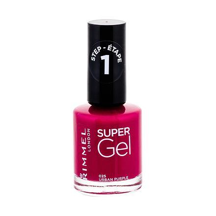 Rimmel London Super Gel STEP1 lak na nehty 12 ml odstín 025 Urban Purple pro ženy