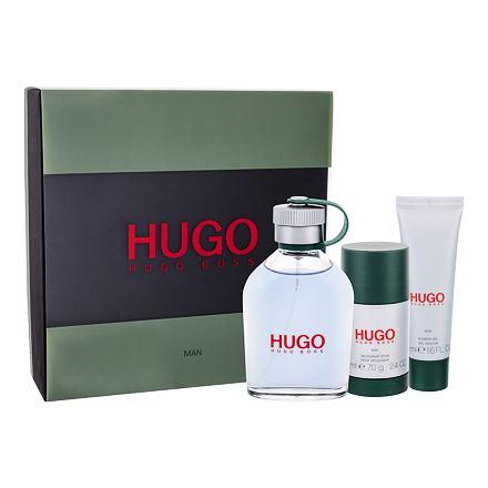 HUGO BOSS Hugo Man sada toaletní voda 125 ml + sprchový gel 50 ml + deostick 75 ml pro muže