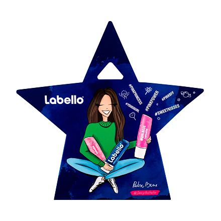 Labello Soft Rose sada balzám na rty 5,5 ml + balzám na rty 5,5 ml Pearly Shine + balzám na rty 5,5 ml Original pro ženy
