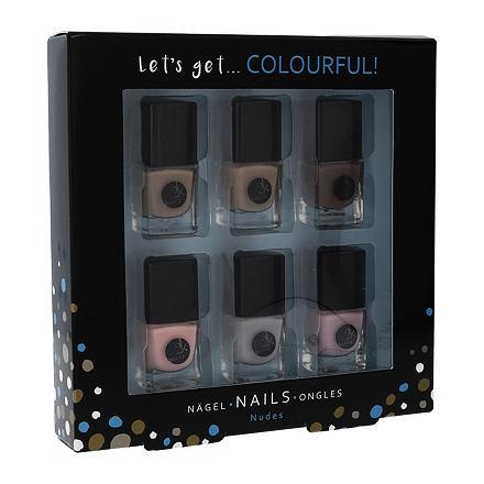 2K Let´s Get Colourful! sada lak na nehty 6x 5 ml pro ženy
