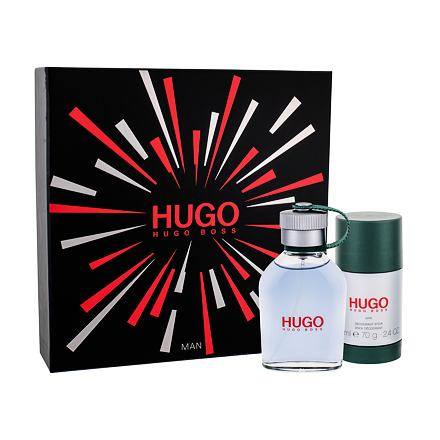 HUGO BOSS Hugo Man sada toaletní voda 75 ml + deostick 75 ml pro muže
