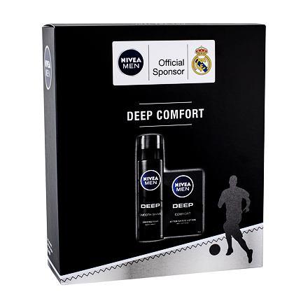 Nivea Men Deep Comfort sada voda po holení 100 ml + pěna na holení Smooth Shave 200 ml pro muže