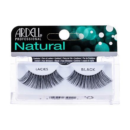 Ardell Natural Lacies nalepovací řasy 1 ks odstín Black pro ženy