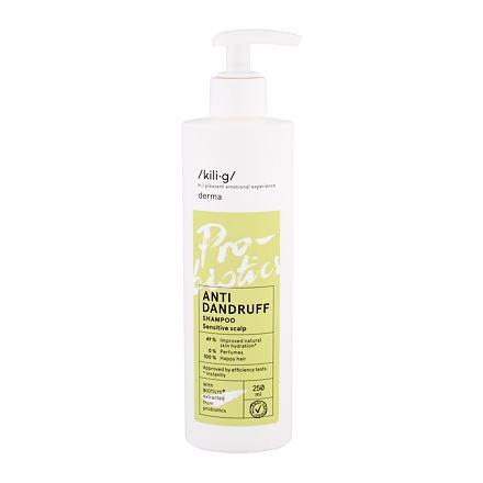 kili·g derma Anti Dandruff šampon proti lupům pro citlivou pokožku 250 ml pro ženy