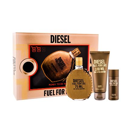 Diesel Fuel For Life Homme sada toaletní voda 75 ml + sprchový gel 100 ml + sprchový gel 50 ml pr
