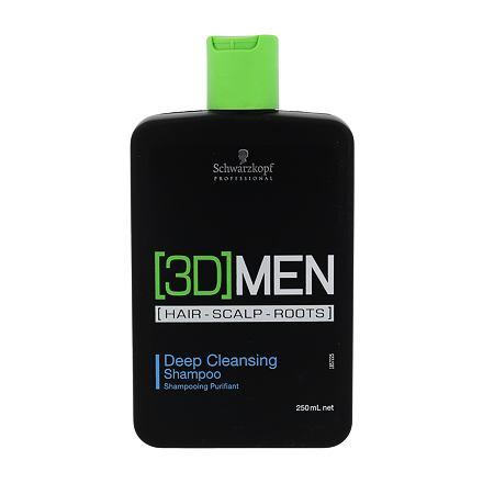 Schwarzkopf 3DMEN Deep Cleansing hloubkově čisticí šampon 250 ml pro muže