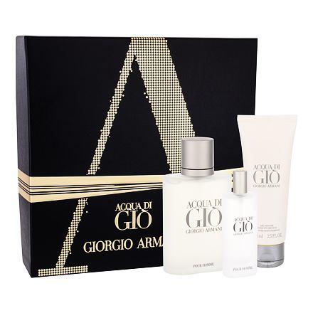 Giorgio Armani Acqua di Gio Pour Homme sada toaletní voda 100 ml + toaletní voda 15 ml + sprchový gel 75 ml pro muže