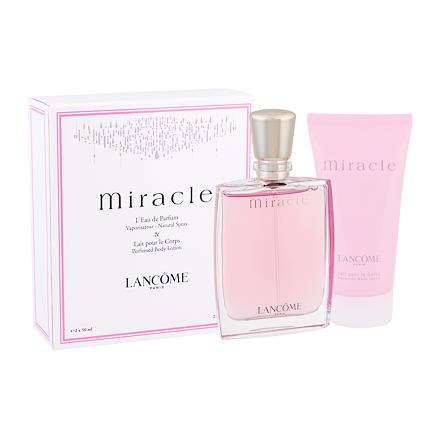 Lancôme Miracle sada parfémovaná voda 50 ml + tělové mléko 50 ml pro ženy