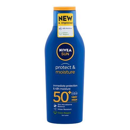 Nivea Sun Protect & Moisture SPF50+ 200 ml hydratační mléko na opalování