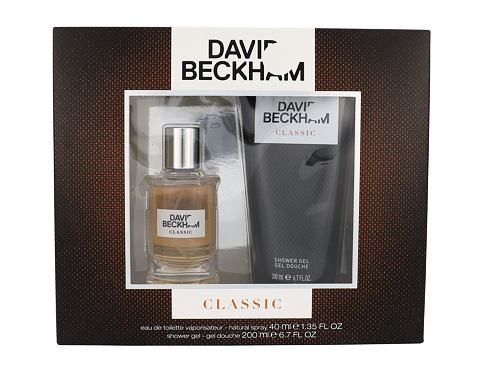 David Beckham Classic EDT EDT 40 ml + sprchový gel 200 ml Poškozená krabička pro muže