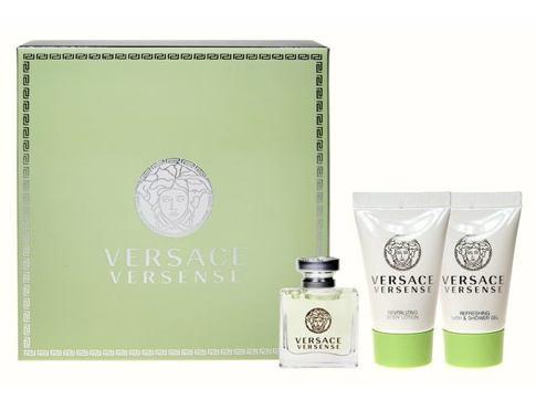 Versace Versense EDT EDT 5 ml + sprchový gel 25 ml + tělové mléko 25 ml pro ženy