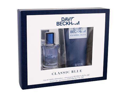David Beckham Classic Blue EDT EDT 40 ml + sprchový gel 200 ml pro muže