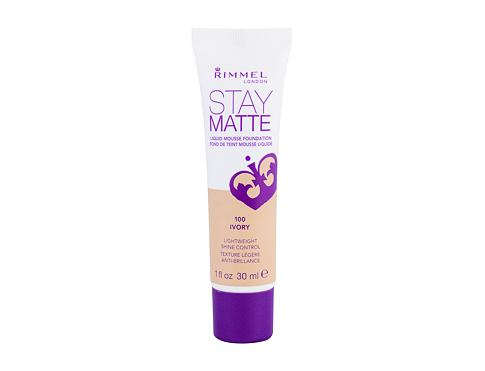 Makeup Rimmel London Stay Matte Liquid Mousse Foundation 30 ml 100 Ivory