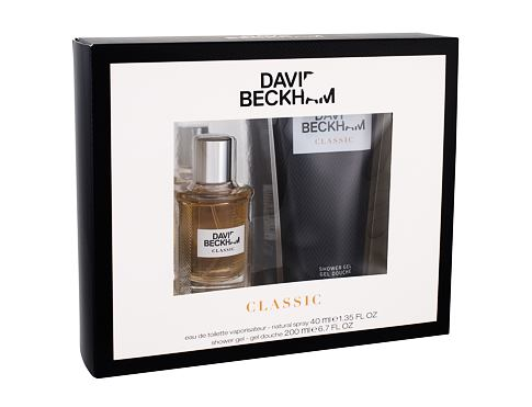David Beckham Classic EDT EDT 40 ml + sprchový gel 200 ml pro muže