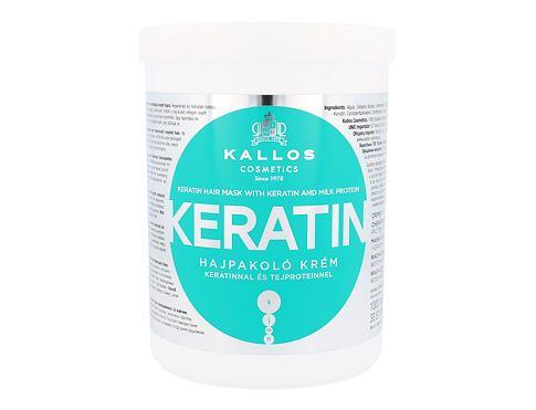 Kallos Cosmetics Keratin maska na vlasy 1000 ml pro ženy