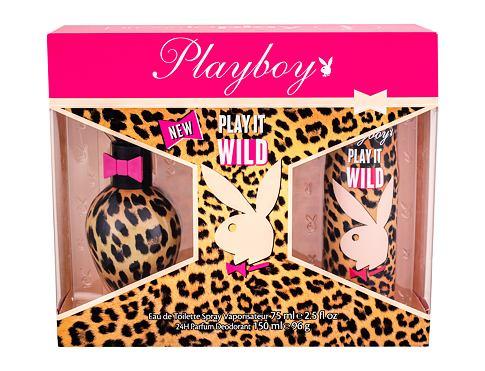 Playboy Play It Wild For Her EDT EDT 75 ml + deodorant 150 ml pro ženy