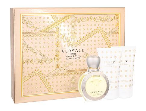 Versace Eros Pour Femme EDT EDT 50 ml + tělové mléko 50 ml + sprchový gel 50 ml pro ženy
