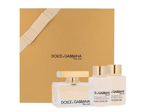 Dolce&Gabbana The One EDP EDP 75 ml + tělové mléko 100 ml + sprchový gel 100 ml Poškozená krabička pro ženy
