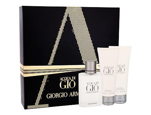 Giorgio Armani Acqua di Gio Pour Homme EDT EDT 50 ml + balzám po holení 75 ml + sprchový gel 75 ml pro muže